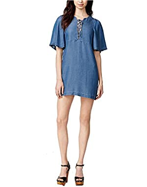 Guess Women's Tricia Denim Shift Dress
