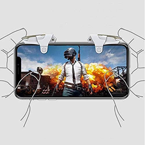 Gadgets Appliances 2 Metal Click PUBG Mobile Game Fire Button Aim Key Smart Phone Gaming Trigger L1 R1 Shooter Controller (Set of 1)