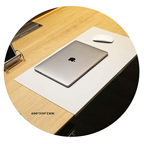 God of Fortune Desk mat Mouse pad Desk mats Business Table Carpet Computer mat odorless Office appliances TPU Material Plastic tablecloths,Light Grey,60x35cm