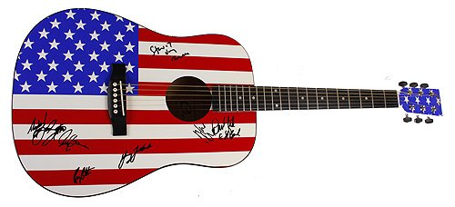 BRUCE SPRINGSTEEN & THE E-STREET BAND AUTOGRAPHED SIGNED GUITAR Autographed Signed Facsimile