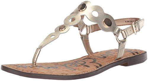 Sam Edelman Women's Gilly Flat Sandal Jute Metallic Leather cDv1zglW