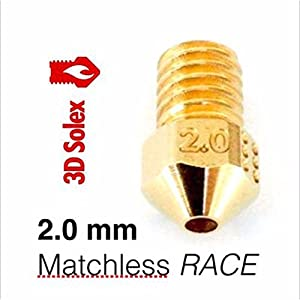 3D Solex UM2 Matchless Nozzle - 2.85mm Filament, 2.0mm RACE from 3D Solex