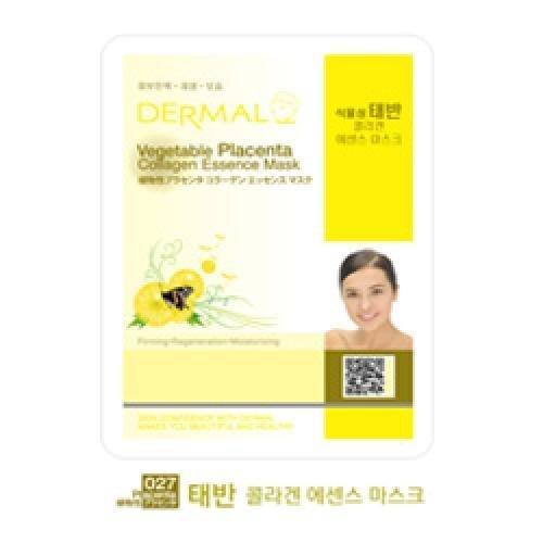 DERMAL Vegetable Placenta Collagen Essence Mask (10sheets) [Korean Import]