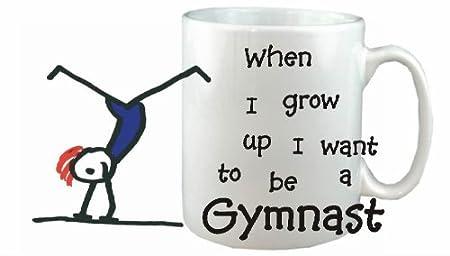 Quiero Ser Un gimnasta taza de cerámica - carrera taza apta para ...