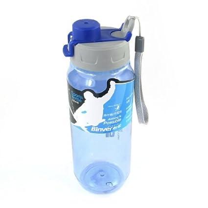 eDealMax Botella desmontable Mano del agua de la Correa de la Taza plástica 720ml Gris Azul