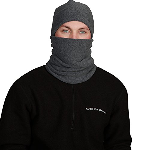 Turtle Fur Double-Layer Neck Warmer, Chelonia 150 Fleece, Charcoal