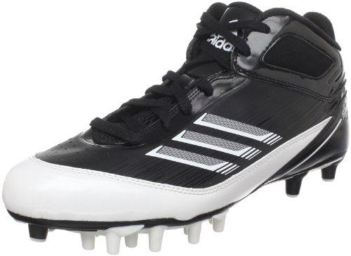 Adidas Mens Scorch X Superfly Mid Tacchetta Da Calcio Nero / Bianco / Argento Metallizzato