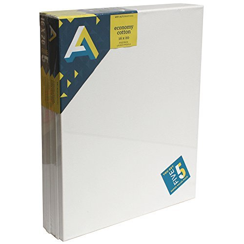 Art Alternatives Streched Canvas Super Value Pack-16 x 20 inches-Pack of 5 by Art Alternatives