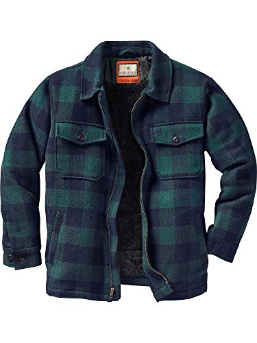 Legendary Whitetails The Outdoorsman Buffalo Jacket (Navy Forest Plaid, XXX-Large Tall)