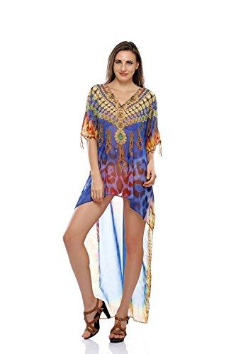 855b9f79a8 D G PRINTS FAB Women's Turkish Kaftan Beach wear Swimwear Bikini Cover ups  Beach Dress