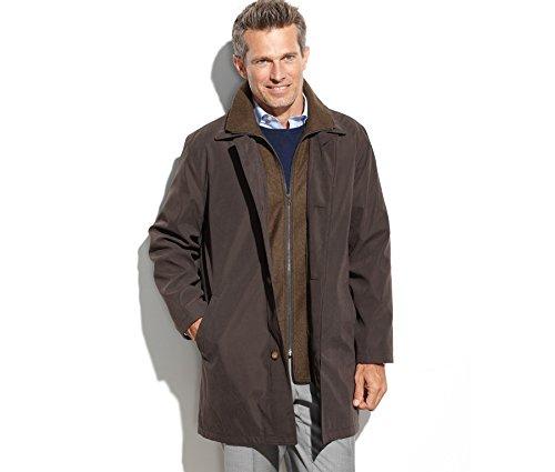 Lauren Ralph Lauren Edgar Raincoat Men's Top Off Casual wear Overcoat (38 Short) Brown/Olive