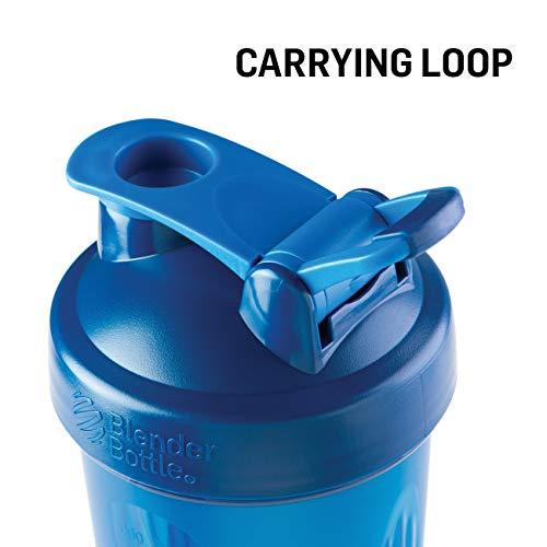 BlenderBottle Classic Loop Top Shaker Bottle, 28-Ounce, Full Color Black