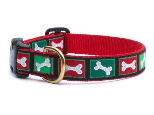 Up Country- Christmas Bones Style Dog Collar-Large-Free Shipping