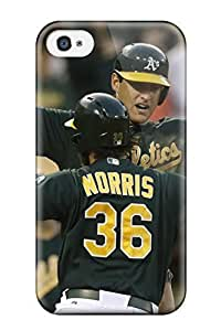 Travers-Diy Anti-scratch And Shatterproof Oakland Athletics cell phone case cover For Iphone 4/4s/ High Quality case cover FdukYZLpkkI
