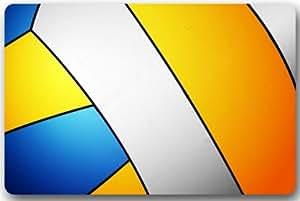 Voleibol Entryways–Felpudo antideslizante rectangular de interior/al aire libre Floor Mat felpudo–23,6(L) X 15,7(W) Felpudo de bienvenida