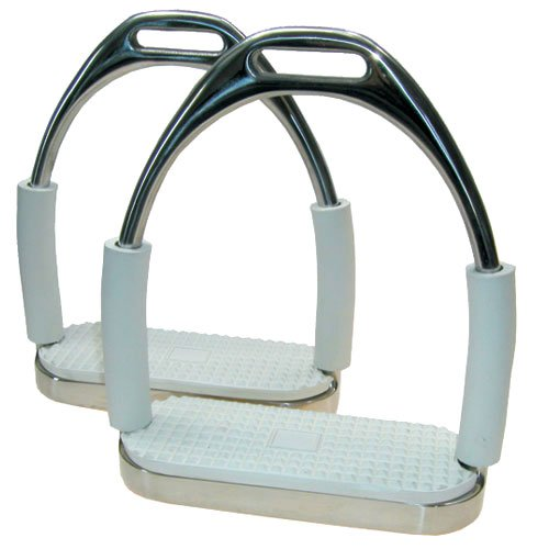 Stirrup Safety Irons - Coronet Double Jointed Irons, 4 1/2-Inch