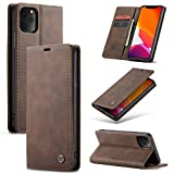 SINIANL iPhone 11 Pro Max Wallet Case iPhone 11 Pro Max Leather Case Book Folding Flip Case with Kickstand Credit Card Slot Magnetic Closure Protective Cover for iPhone 11 Pro Max 2019 6.5 - Coffee