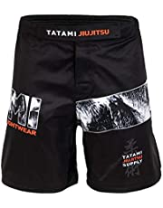 Tatami Fightwear Tropic Black Fight Shorts Men's BJJ MMA Boxing Fitness Grappling Kickboxing Muay Thai No Gi