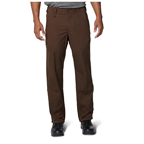 5.11 Pantalones tácticos de corte de piedra para hombres, poliéster-algodón con acabado de teflón, cremallera YKK, estilo 74447