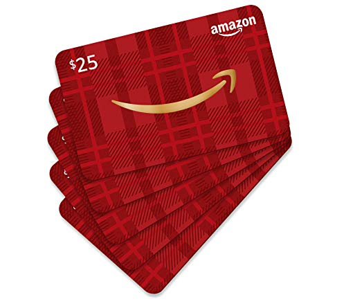 Amazon.com Gift Card - Pack Of 5 (Holiday Plaid Card Design)