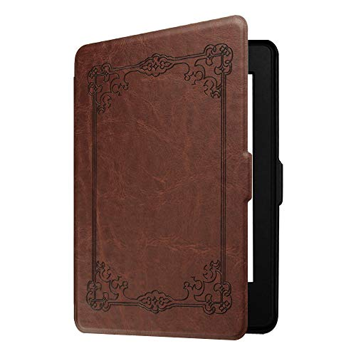 Fintie Slimshell Case for Kindle Paperwhite - Fits All Paperwhite Generations Prior to 2018 (Not Fit All-New Paperwhite 10th Gen), Vintage Antique Bronze