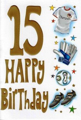 Selective Boys Special Age 15 Happy 15Th Birthday Card Boy Teens