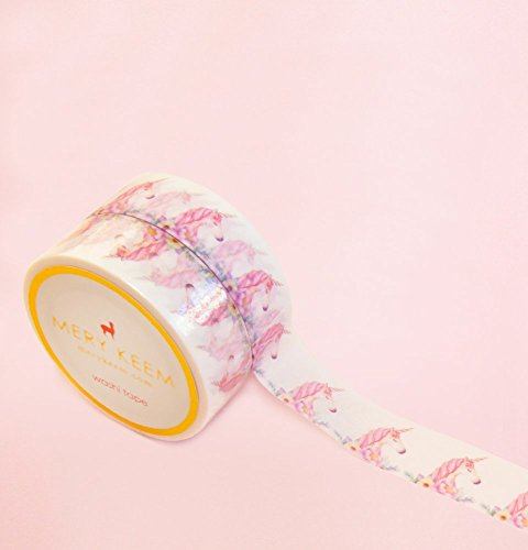 Unicorn Washi Tape for Planning • Scrapbooking • Arts Crafts • Office • Party Supplies • Gift Wrapping • Colorful Decorative • Masking Tapes • DIY from MERYKEEM