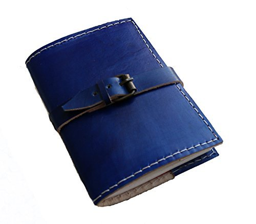 Jaald genuine Leather Journal large diary travel writing pad sketch book gift for kids school notebook fancy journal without lines with Clasp lock