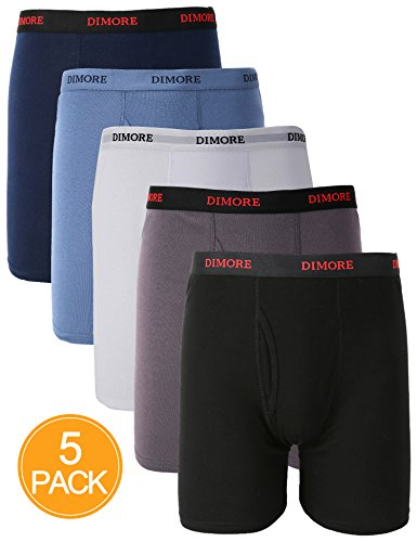 Men's Classic Cotton Stretch Boxer Briefs Underwear Trunk (5PK/4PK)
