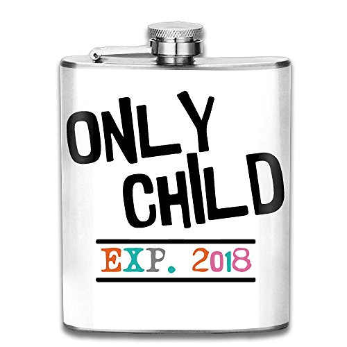 Only Child Status Expires 2018-1 7 Oz Hip Flask Stainless Steel Wine Pot - Leak Proof - Men Women - The Mall Chicago Hip