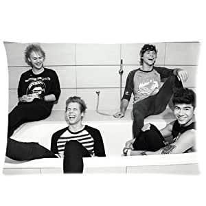 5 Seconds of Summer 5SOS Pillow Case Cover Standard 20x30 inches Two side Zippered Pillowcase