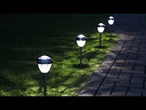 Sogrand Solar Lights,4Pack Outdoor Garden Path Light Warm White LED Landscape Lamp for Pathway Walkway Driveway Lawn Patio Yard
