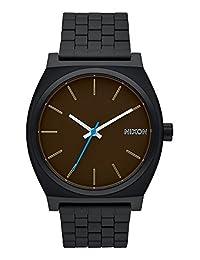 Nixon Men's A045019-00 Time Teller Analog Display Japanese Quartz Black / Brown Watch