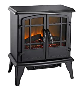 Pleasant Hearth 20-Inch Electric Stove Matte, Black