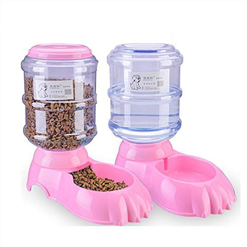 Fairy Tale Automatic Pet Feeder Small&Medium Pets Automatic Food Feeder and Waterer Set 3.8L, Travel Supply Feeder and Water Dispenser for Dogs Cats Pets Animals -