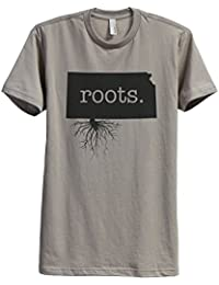 "<span class=""a-offscreen"">[Sponsored]</span>Home Roots State Kansas KS Men's Modern Fit T-Shirt Printed Graphic Tee"