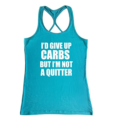(TeeMixed Women Fitness Gym Tank Tops I'm not a Quitter)