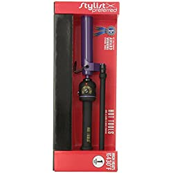 HOT TOOLS 2108 Nano Ceramic Marcel Curling Iron, Black/Purple, 1 Inch