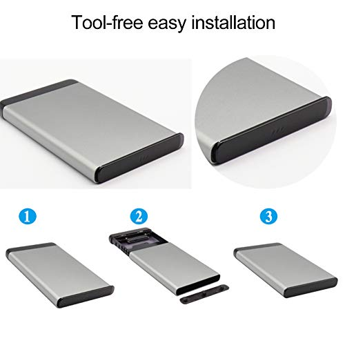 External Hard Drive,Universal Solid State Drive with 500GB / 1TB / 2TB,USB 3.0 for PC,Portable Mobile Hard Drive for Mac,P-S4 and X-Box