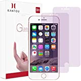 """Kantou Screen Protector Compatible for iPhone 8 iPhone 7 [Anti-Blue Light Ray] [2 Packs] iPhone 8 7 Eye Protect Tempered Glass Screen Protector, Anti-UV, Anti-Fingerprints, 3D Touch, Anti-Glare, 4.7"""""""
