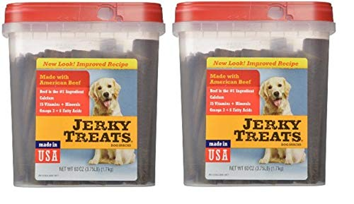 Jerky Treats Tender Beef Strips Dog Snacks, 60 oz, 2 Pack