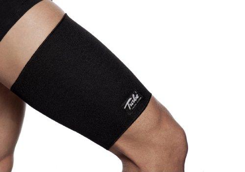 TURBO Med Oberschenkelbandage bei Sehnen- und Muskelverletzungen und zur Leistungssteigerung beim Training SCHWARZ Gr. L TM853-L9