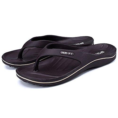 Chui Heren Slipper Lichtgewicht Comfortabele Leren Sandalen Met Steun In De Rug Donkerbruin