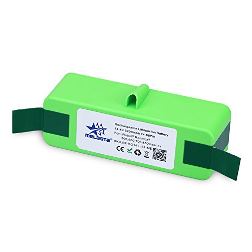 Melasta New 14.4V 5200mAh Lithium-ion Extended Life Replacement Battery for iRobot Roomba 500 600 700 800 Series 510 530 531 532 550 585 595 561 600 620 630 650 760 770 780 870 880