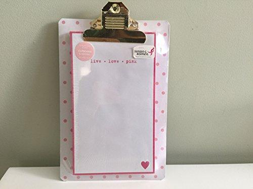 Graphique for Susan G. Komen Breast Cancer Awareness Pink Polka-Dot Clipboard/Memo Pad Set