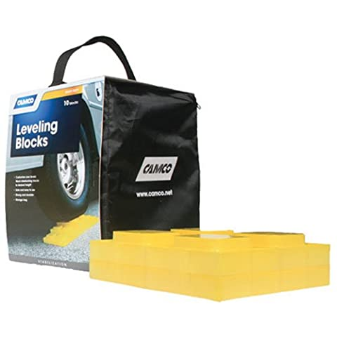 Camco Heavy Duty Leveling Blocks, Ideal For Leveling Single and Dual Wheels, Hydraulic Jacks, Tongue Jacks and Tandem Axles (10 - Special Build Part