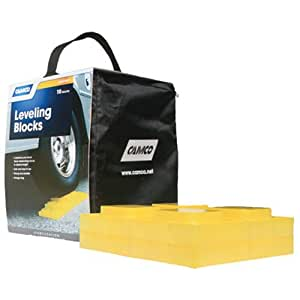 Camco Heavy Duty Leveling Blocks, Ideal For Leveling Single and Dual Wheels, Hydraulic Jacks, Tongue Jacks and Tandem Axles (10 pack) (44505)