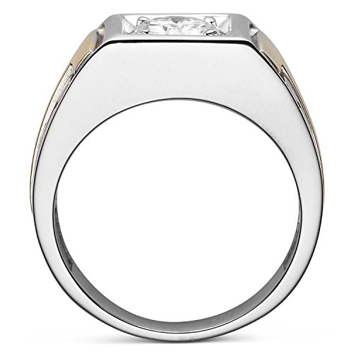 Forever Classic Men�s Round 7.0mm Moissanite Wedding Band-size 11, 1.20ct DEW By Charles & Colvard by Charles & Colvard (Image #2)