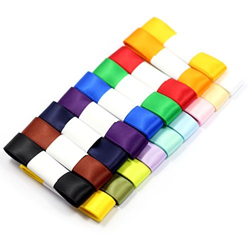 Midi Ribbon Solid Color Double Faced Satin Ribbon - 18 Colors 5/8