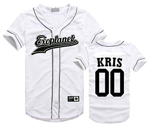 EXO Seoul Concert Same Style T-Shirt Baekhyun Sehun Xiumin Hip-hop Shirt XS Kris -